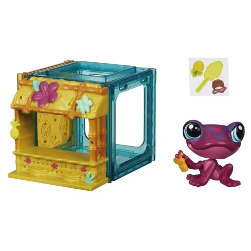 Littlest pet shop mini style set avec #4026 tad paulen grenouille figure (B2897)