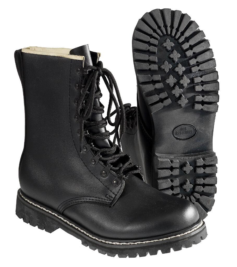 A partire da BW Springer Stivali Stivali di combattimento esercito tedesco stivali di Stivali pelle stivali nero 37-48 40692d