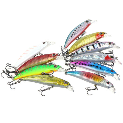 1PC Minnow Fishing Bait Fishing Lure Plastic Crank Bait Fishing Tackle.AU