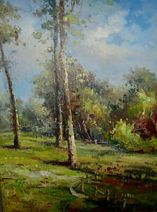 "Hand Painted Landscape Art Oil Painting on Canvas 36"" x 48"""