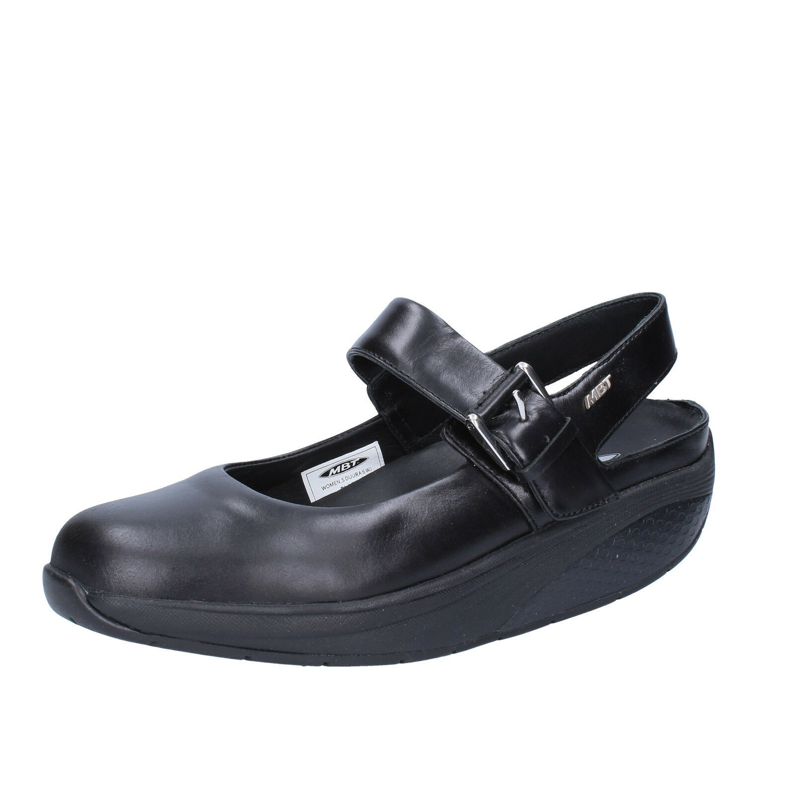 scarpe donna MBT 37 pelle ballerine nero pelle 37 AC375-B 3809d8