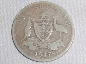 KING GEORGE VI 1944 S Australian Silver 1//- One Shilling very Nice Shilling