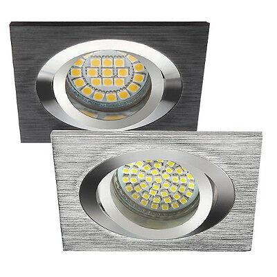 Einbau-Strahler LED Druckguss Schwenkbar 230V GU10 MR16 Einbauleuchte SEDY