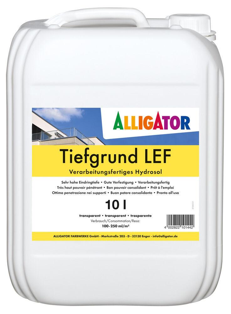 5x Alligator Tiefgrund LEF 10 Liter -ultradisperse Reinacrylat-Dispersion-