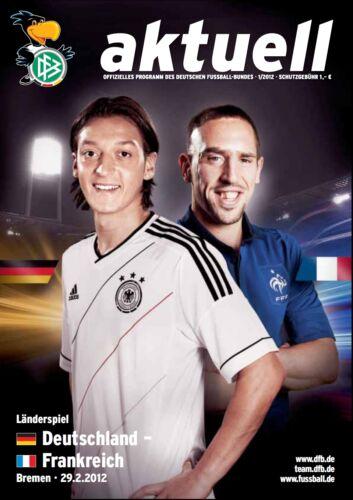 Länderspiel 29.02.2012 Deutschland Frankreich France in Bremen