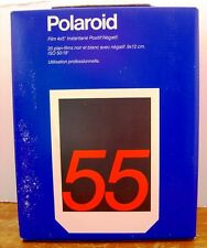 POLAROID 55 POS/NEG B&W 4X5 INSTANT SHEET FILM - NEW SEALED - EXPIRED Nov. 1990