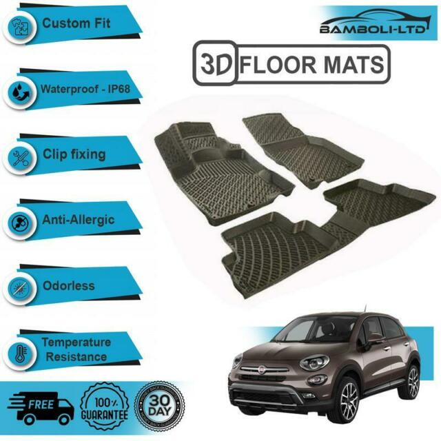 Floor Mats Liner 3D Molded Fit Interior Protector For Fiat
