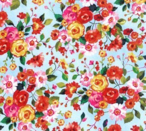 Hoffman Fringe Florista Rose Bloom Floribunda Cotton Fabric M7425-557 Azalea BTY