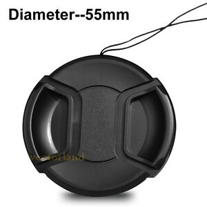 55mm-Center-Pinch-Snap-on-Front-Lens-Cap-Cover-for-Nikon-Canon-Sony-DSLR-Camera