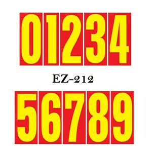 Car Dealer Window Stickers 5 1//2 Inch Numbers Blue and Yellow 24 Packs
