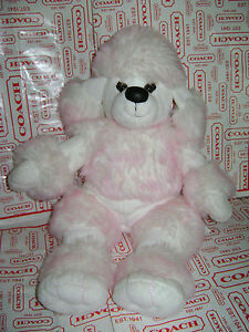 """BUILD A BEAR PUP PUPPY DOG POODLE WHITE PINK 19"""" PLUSH STUFFED RETIRED VERY RARE"""