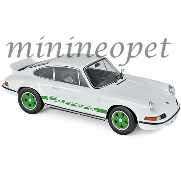 NOREV 187636 1973 PORSCHE CARRERA 911 RS TOURING 1 18 DIECAST bianca & verde