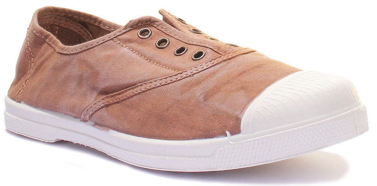 Natural World Washed Canvas Women Canvas Trainers Size