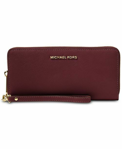 c90c406c1dab Michael Kors Leather Jet Set Travel CONTINENTAL Wallet in Mulberry/ballet  for sale online | eBay