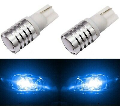 LED Light 5W Blue 10000K 168 T10 Two Bulbs License Plate Replacement Lamp Show
