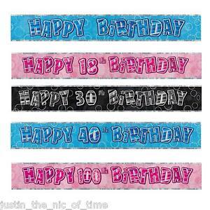 Foil-banniere-fete-d-039-anniversaire-bannieres-milestone-decorations-9ft-glitz-13th-100th