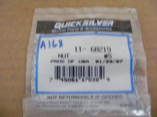 NEW Mercury Mariner Quicksilver Nut 11-68219 Outboard Bag w//5