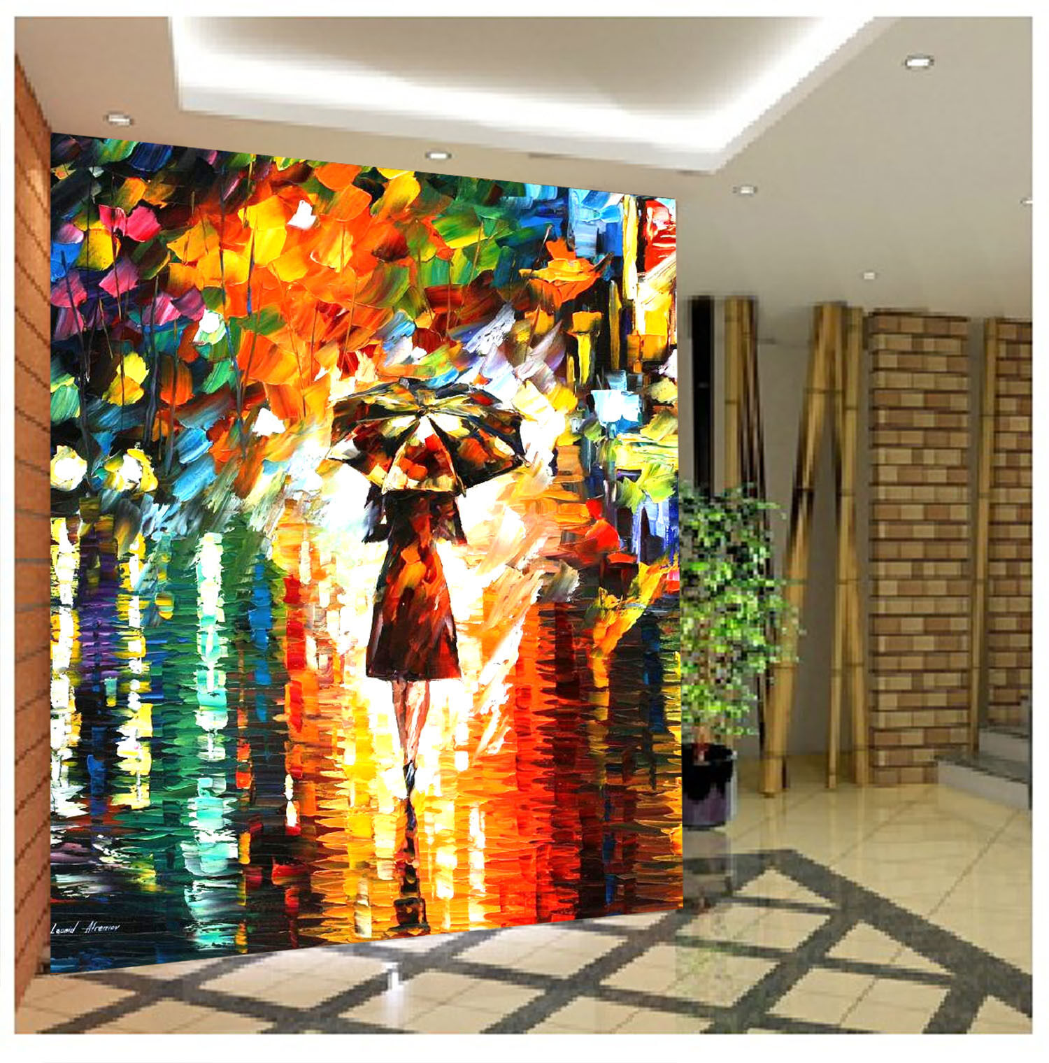 3D Fancy Oil Painting 3 Wall Paper Wall Print Decal Wall Deco Wall Indoor Murals