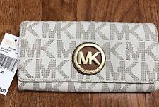 9311f642aede85 item 1 Michael Kors Fulton Carryall MK Signature Wallet Vanilla/Acorn PVC  32S4GFTE3B -Michael Kors Fulton Carryall MK Signature Wallet Vanilla/Acorn  PVC ...