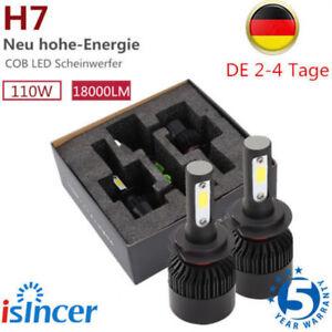 2x h7 110w led scheinwerfer birnen headlight leuchte. Black Bedroom Furniture Sets. Home Design Ideas