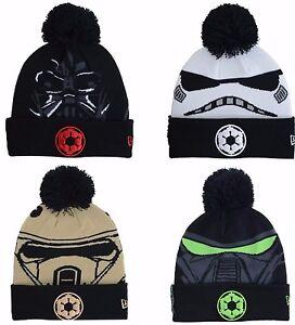 f7ca56f39 Details about NEW ERA STAR WARS ROGUE ONE Movie Beanie Cuff Skully Knit  Winter Pom Cap Hat