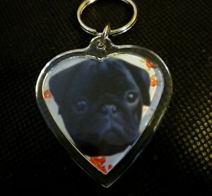 Pug-Keyring-Black-Pugs-Key-Rings-Gift-Black-Pug-Dog-Mothers-Day-Gift-Xmas-Gift