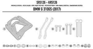 GIVI-SR5126-ATAQUE-TRASERO-PLACA-MONOKEY-para-tronco-para-BMW-G-310-GS-2017