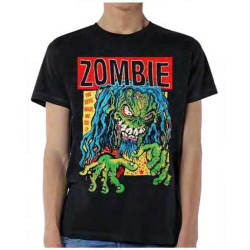 L M 2XL Black T-Shirt Rob Zombie Devil Made Me Do It S XL