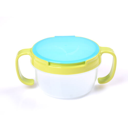 1X Toddler Baby No Spill Active Snack Snacker Useful Container Free Bowl Cup Mj