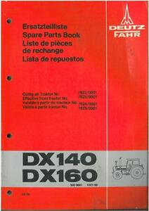 deutz fahr tractor dx140 dx160 parts manual ebay rh ebay co uk DX-160 Specs DX-160 Specs