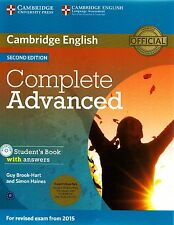 COMPLETE ADVANCED 2nd Ed STUDENT BOOK w Answers+CD-ROM+Class CDs 2015 Exam @NEW@