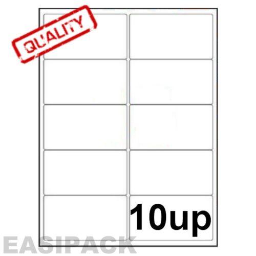100 feuilles étiquettes LASER adresse à jet d/'encre 10 jusqu/' à 99 x 57 mm