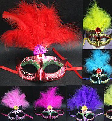 Sexy Maschera Per Occhi Veneziana Da Viso Festa Di Carnevale Piume 6 Colori Quell Summer Thirst