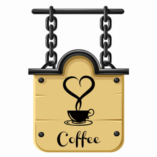 Coffee Cup Decals Removable Vinyl Wall Sticker DIY Kitchen Home Decor Paper EC