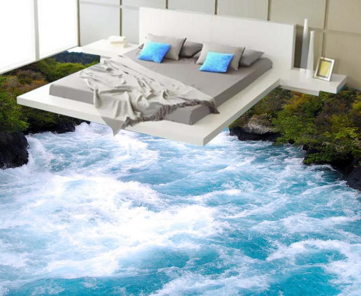 3D Grün Jungle River 89 Floor WallPaper Murals Wall Print Decal AJ WALLPAPER US