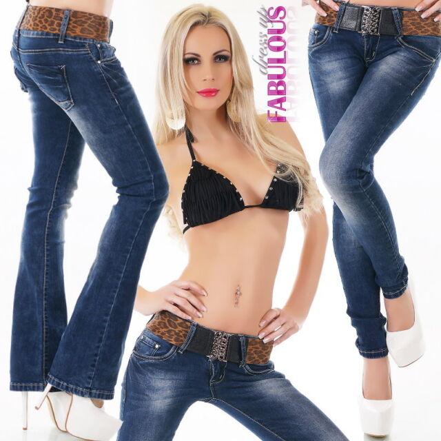 Sexy Women's Bootleg Jeans Boot Cut Skinny Denim Size 6 8 10 12 14 XS S M L XL