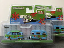 1//64 GREENLIGHT HITCH /& TOW VOLKSWAGEN SAMBA BUS /& SHASTA AIRFLYTE TRAILER YELLO