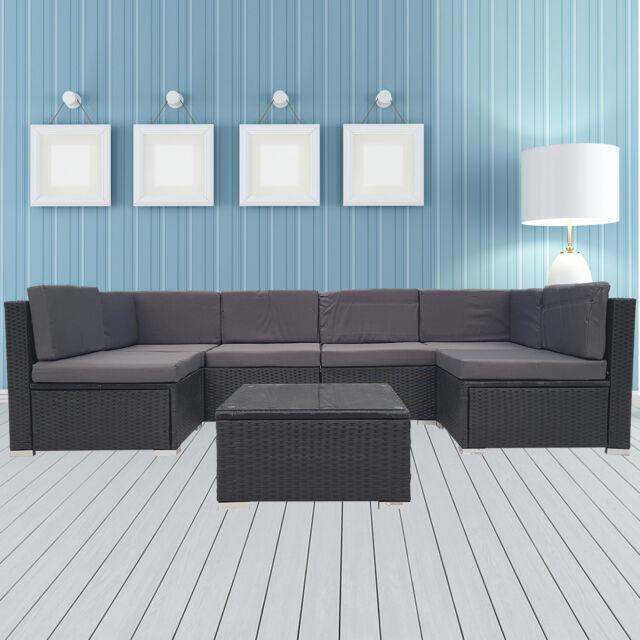 Rattan Sofa Set Wicker Lounge Garden Patio Couch Setting Outdoor Furniture
