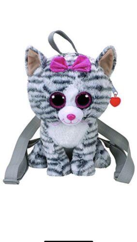 """TY Beanie Gear Backpack  KIKI GREY CAT BACKPACK Plush 13/"""""""