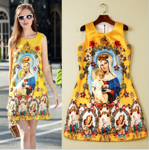 Hot Occident Womens Printing Nail Bead Sleeveless Mini Dress Runway Floral Sz