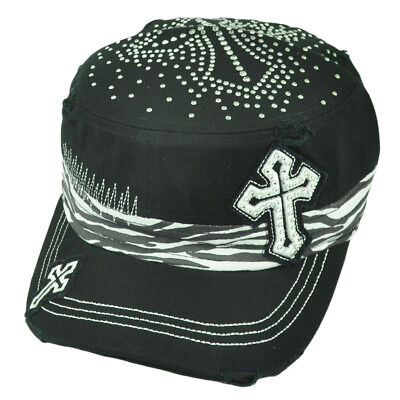 Fanartikel Keltenkreuz Zebra Strass Mode Distressed Müdigkeit Damen Militär Hut Gem Grade Produkte Nach QualitäT Sport