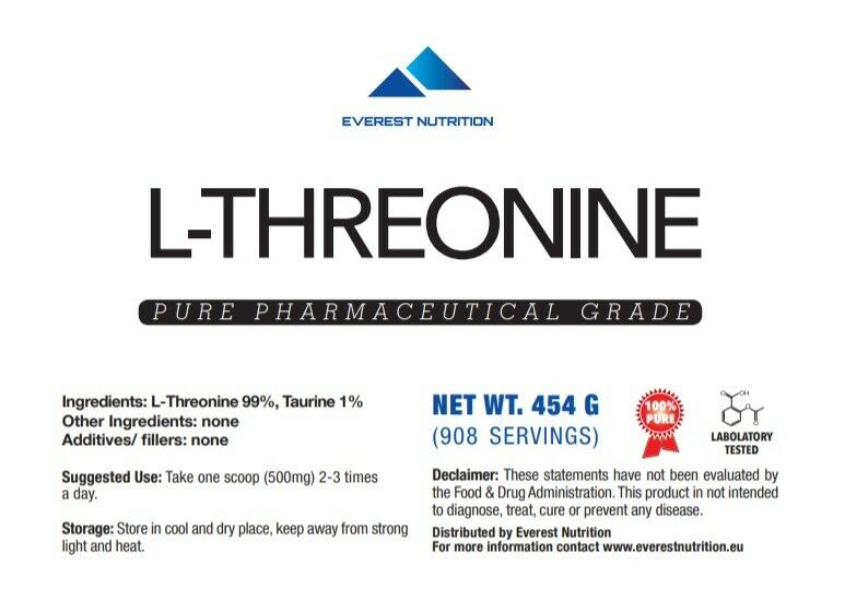 L-THREONINE 100% GRADE PURE PHARMACEUTICAL GRADE 100% POWDER 80b96d