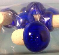 Italian Wine Tops Cork Bottle Stopper Metallic Blue(10 Pcs)