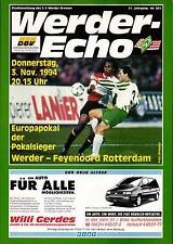 CWC - EC II 94/95 Werder Bremen - Feyenoord Rotterdam, 03.11.1994