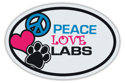 Trucks LABS LOVE Oval Dog Magnets: PEACE Cars LABRADOR RETRIEVERS