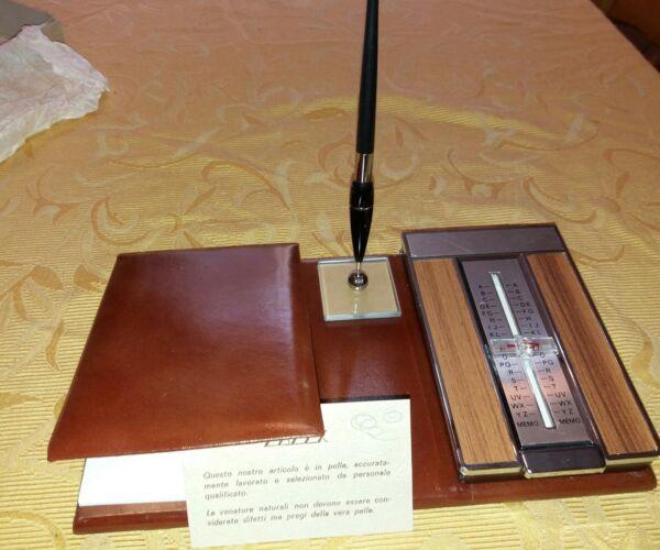 Disciplinato Rubrica Telefonica In Vera Pelle Da Scrivania