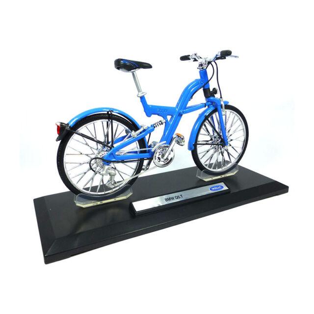 Welly 12265 Bike BMW Q5.T Light Blue 1:10 Bicycle Modellfahrrad New !°