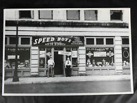 12 By 18 Black & White Picture - 1940 's Speed Shop