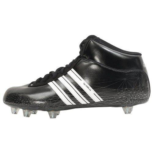 ADIDAS SCORCH 7 D MID BLACK FOOTBALL SHOES CLEATS BLACK MID 6f9894
