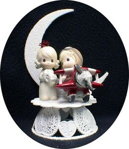 precious moments police wedding cake topper airplane pilot precious moments wedding cake topper top 18712